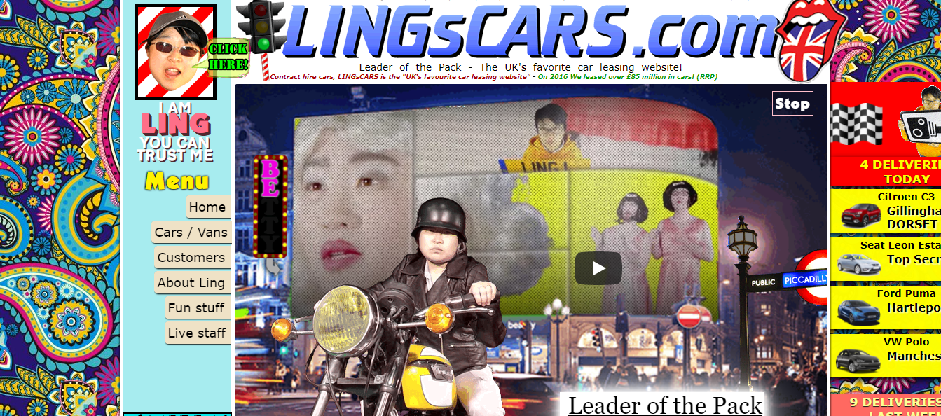lings-The 12 Bad Website Designs You Will See till Date